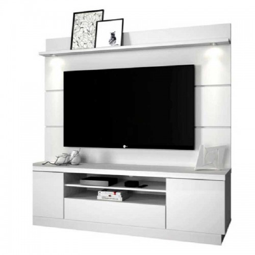 "Mueble para TV hasta 65"" con Luz LED Texas-Lib Blanco"