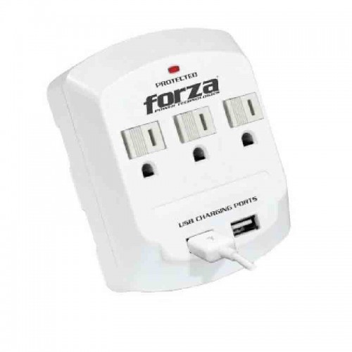 Adaptador Forza Power Plug-in-Module 3 AC/ 2 USB