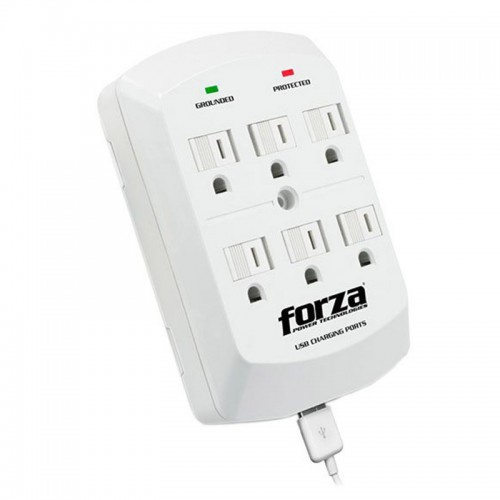 Adaptador Forza Power Plug-in-Module 6 AC/ 2 USB