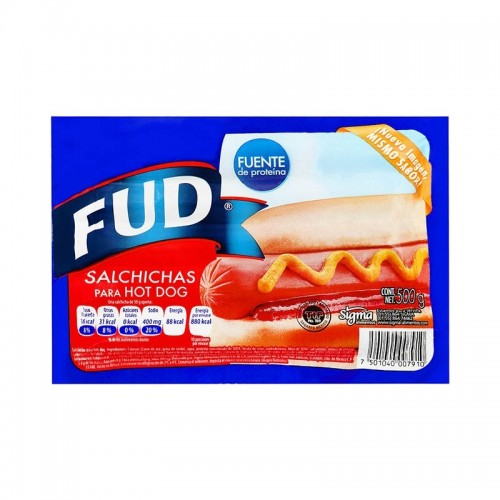Salchicha Hot-Dog 500 gr FUD