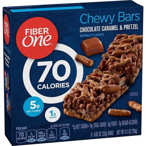Caja Brownies Chewy Bars 116 gr Fiber One