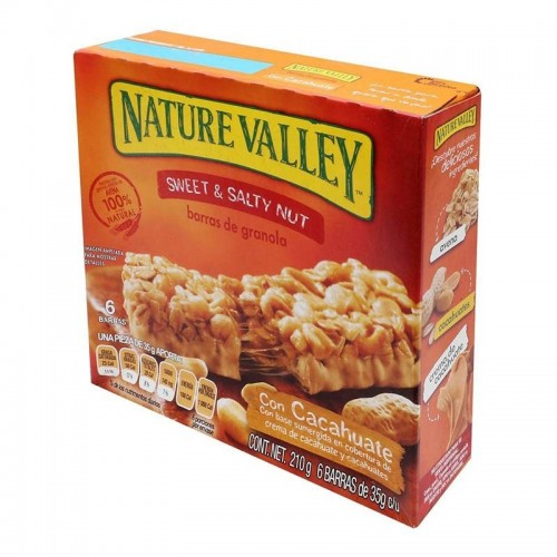 Caja de Barras de Granola Sweet & Salty Nut 210 gr Nature Valley