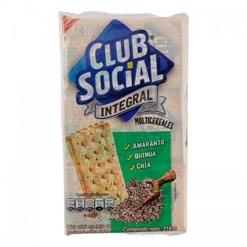 Galleta Nabisco Integral 9 unidades Club Social