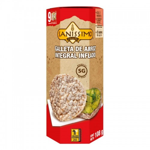 Galleta de arroz integral inflado 108gr Sanissimo