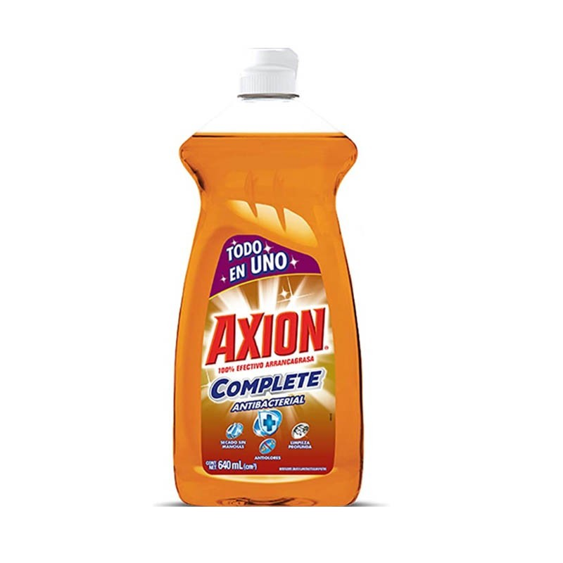 Lavaplatos Líquido Complete Antibacterial 640 ml Axion