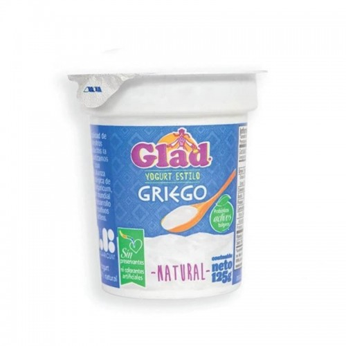 Yogurt estilo griego sabor natural 125 gr Glad