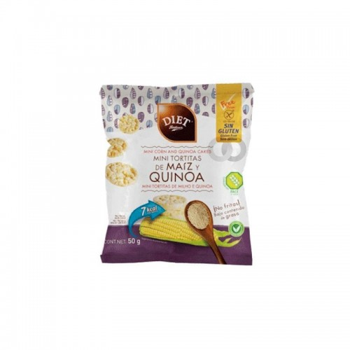 Mini tortilla maiz y quinoa 50 gr Diet radisson