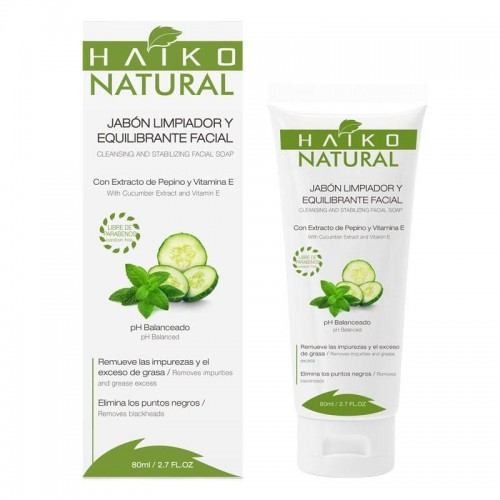 Jabon limpiador y equilibrante facial 80 ml Haiko natural