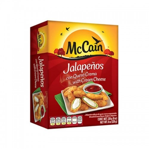 Jalapeño poppers queso crema 8 onz Mccain