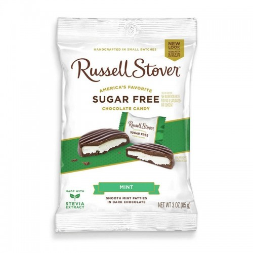 Chocolates Peppermint Mint Patties 3 onz Russell Stover