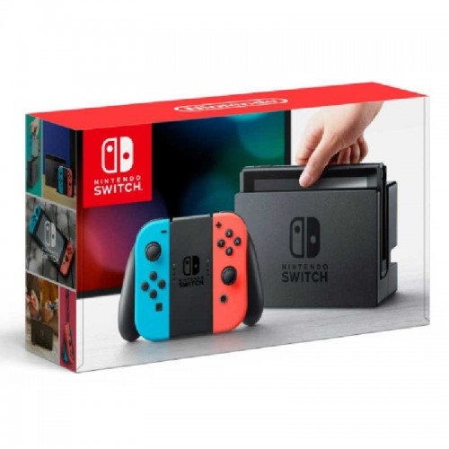Consola Nintendo Switch + Control Joy con Neón Blue y Neón Red
